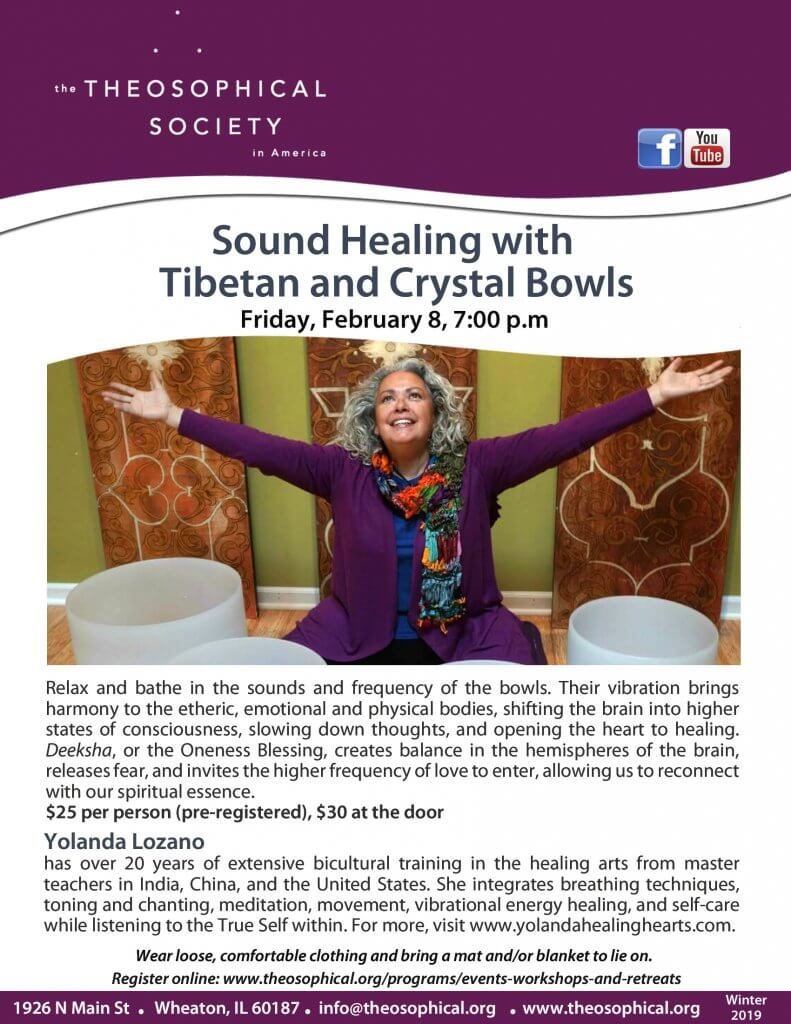 Sound Healing with Tibetan and Crystal Bowls image