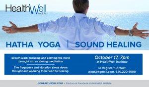 Hatha yoga sound healing image